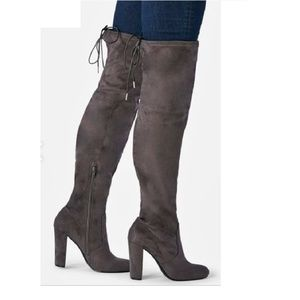 Philipa Over-the-knee Boot in Grey